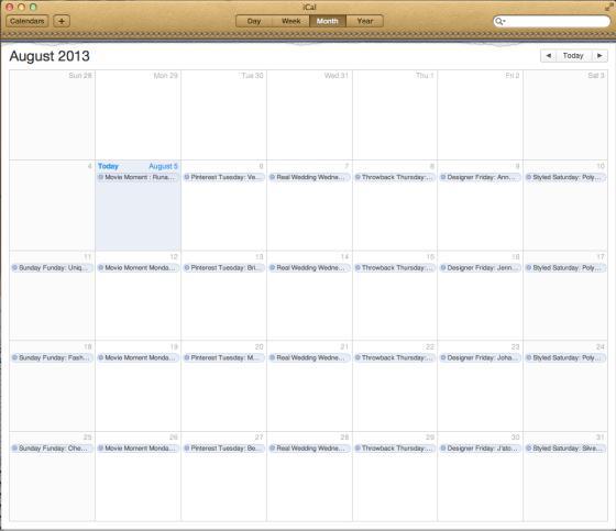 A Blog Calendar