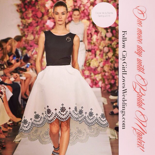One.More.Day Until Bridal Fashion Week!